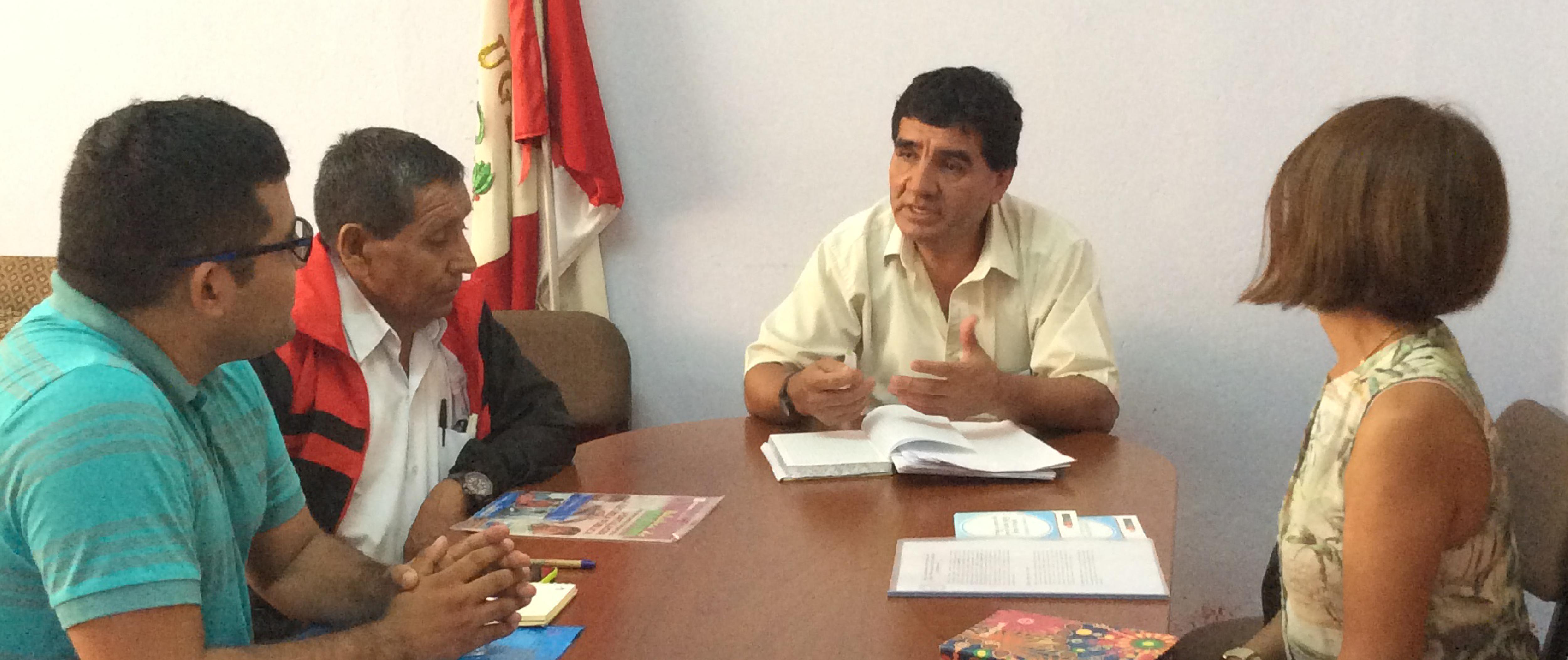 Firma del Convenio Aicasa - Ugel para participación activa con CRFA